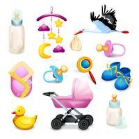 Baby shower ikoner vektor