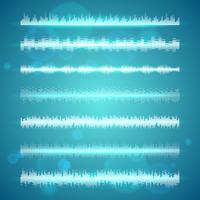 Ljudvågor visar horisontella linjer vektor