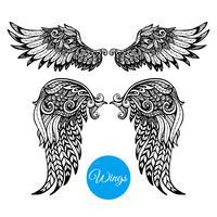 Dekorative Flügel eingestellt