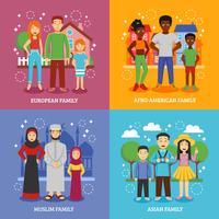 Nationale Familien Icons Set