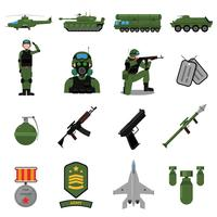 Armee-Icons Set vektor