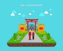 Osten Konzept Illustration vektor