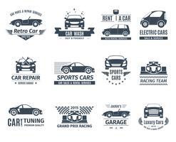 Auto Logo Set Schwarz