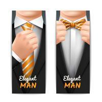 Elegante Mann Banner Set vektor