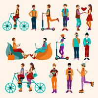 hipster folk platt set