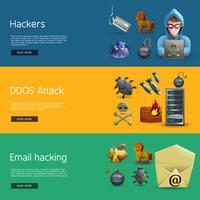 hacker aktivitet banners vektor