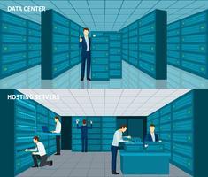 datacenter banner set vektor