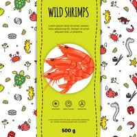 skaldjur förpackning design