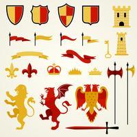 Heraldische Elemente gesetzt vektor