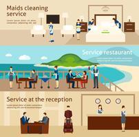 Hotelpersonal Banner Set vektor