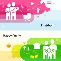 Familienfahnen eingestellt vektor