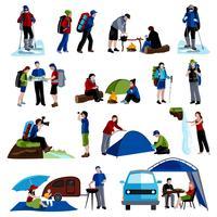 Camping Ikoner Set