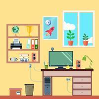 Arbetsyta i rummet vektor