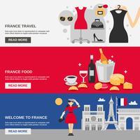 Frankreich Banner Set