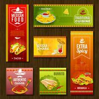 mexikansk mat banner uppsättning vektor