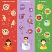 Allergi Symptom Vertikala Banderoller vektor