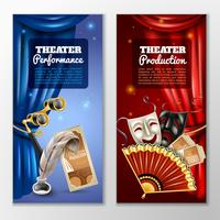 Theater Banner gesetzt vektor