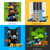 Bauindustrie Icons Set