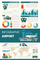 Flughafen Infografiken Set