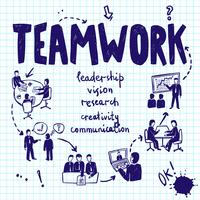 teamwork design koncept vektor