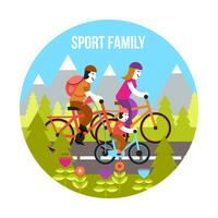 Sport-Familienkonzept