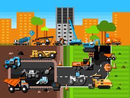Baumaschinen-Zusammensetzung