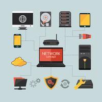 Computer-Netzwerk-Konzept