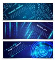 Schaltkreis-Banner-Set