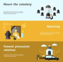 Begravningsbanner Set vektor