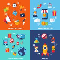 digital marknadsföring set vektor