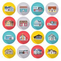 Haus Icons Flat Set vektor