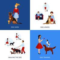 Människor med hundar