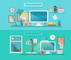 Arbeitsbereich-Banner-Set