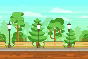 Sommergarten-Landschaftsplakat vektor