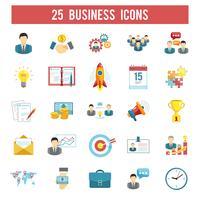 Business startup flat ikoner set vektor