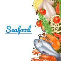 Meeresfrüchte-Menü-Hintergrund vektor