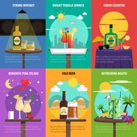Cocktail-Poster-Set vektor