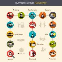 Flussdiagramm der Humanressourcen