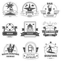 strand etikett uppsättning