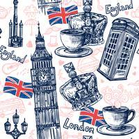 London nahtloses Muster
