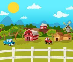 Bauernhof-Karikatur-Hintergrund