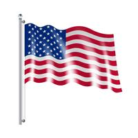 Amerikanska flaggillustrationen vektor