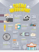 Kino Infografik Poster drucken vektor