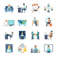 Freiberufliche Icons Set