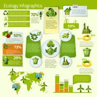 Grüne Ökologie Infografiken vektor