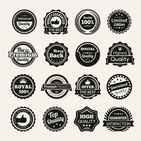 Vintage Premium Quality Svartvita märken