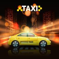 Taxi auf Stadthintergrund vektor