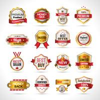 Luxusetiketten Gold und Rot