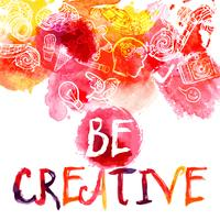 Kreativität-Aquarell-Konzept
