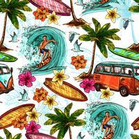 Surfen Sie nahtloses Muster